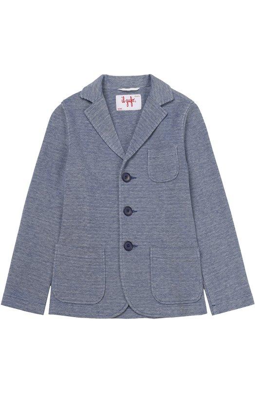 Однобортный пиджак джерси Il Gufo P17BF022/M1055/5-8