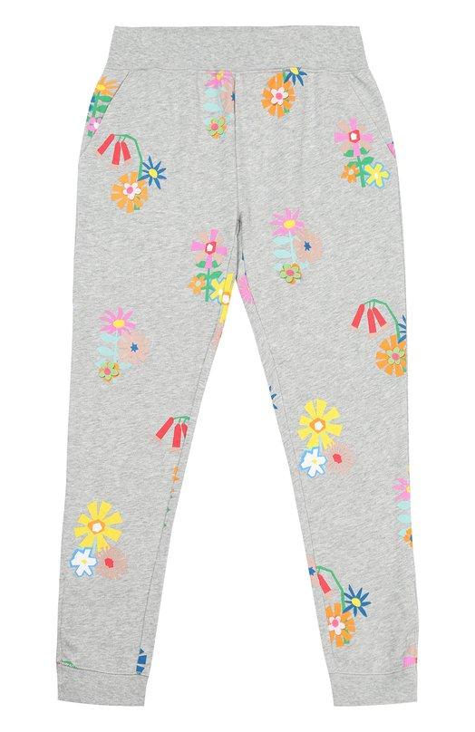 Спортивные брюки с цветочным принтом Stella McCartney 445926/SIJ72