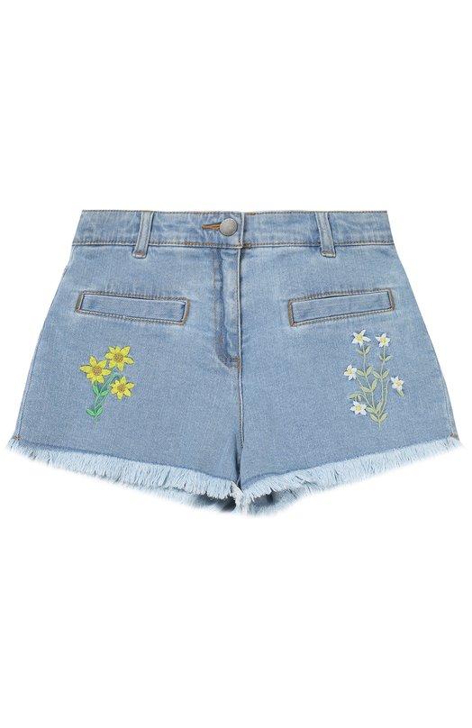 Джинсовые шорты с цветочной вышивкой Stella McCartney 446220/SIK46