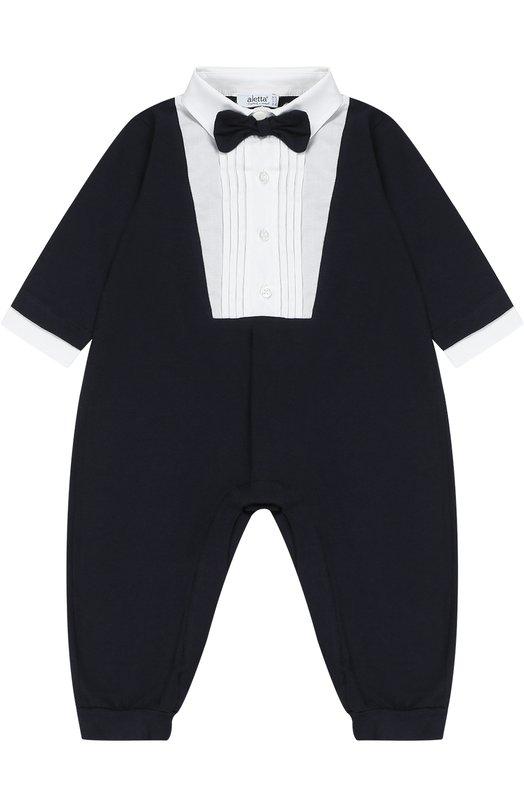 Хлопковое боди-костюм декорированное бабочкой Aletta RE77448