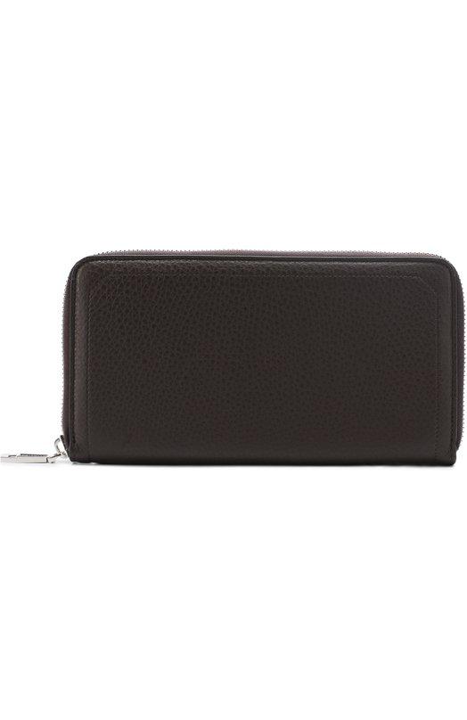 Кожаный бумажник на молнии с отделениями для кредитных карт и монет Brioni