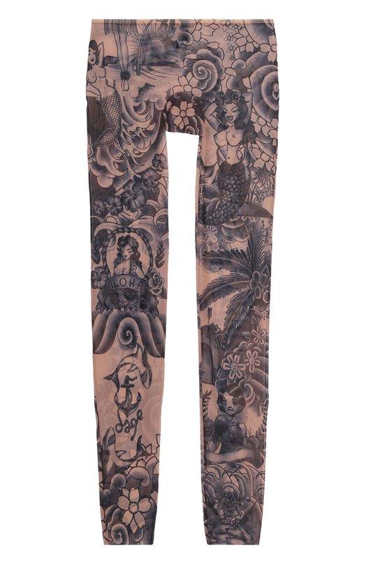 Облегающие прозрачные брюки с принтом Dsquared2 D9N401440