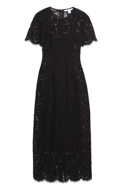 Кружевное облегающее платье с коротким рукавом Diane Von Furstenberg D905802N16
