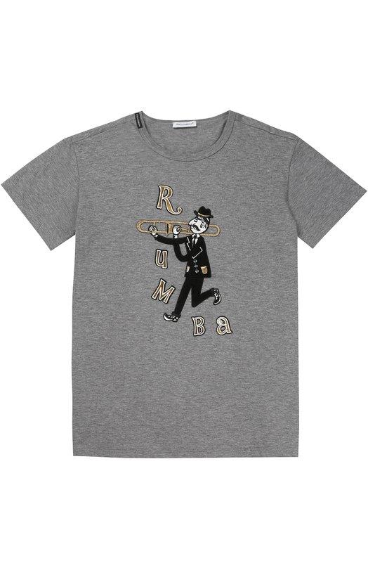 Футболка джерси с принтом Dolce & Gabbana 0131/L4JT4I/G7KHA/2-6