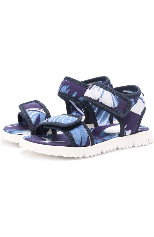 Текстильные сандалии с принтом Dolce & Gabbana 0132/DD0123/AT592/19-28