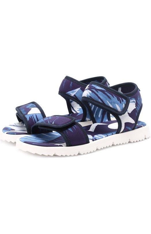 Текстильные сандалии с принтом Dolce & Gabbana 0132/DD0123/AT592/29-36