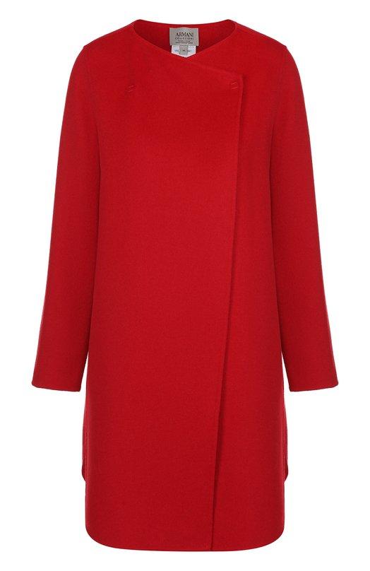 Шерстяное пальто прямого кроя Armani Collezioni VML10T/VM641