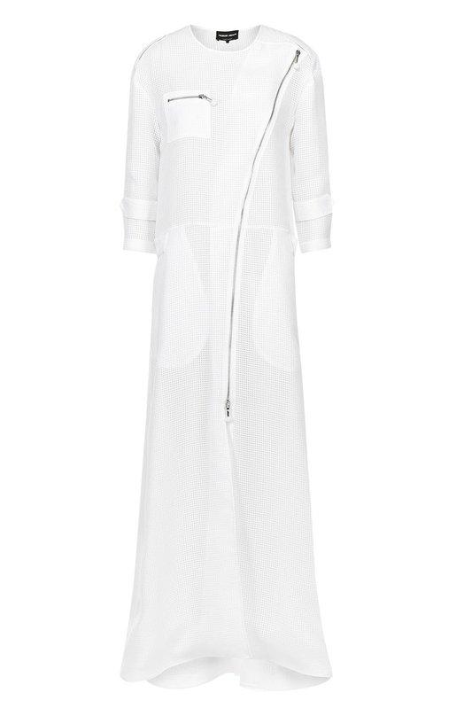 Удлиненное перфорированное пальто с укороченным рукавом Giorgio Armani VAA19T/VA416