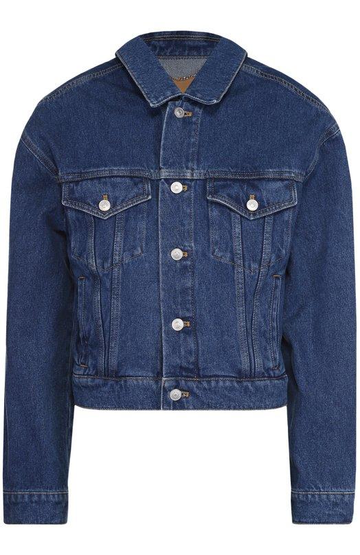 Укороченная джинсовая куртка свободного кроя Balenciaga 458106/TSB06