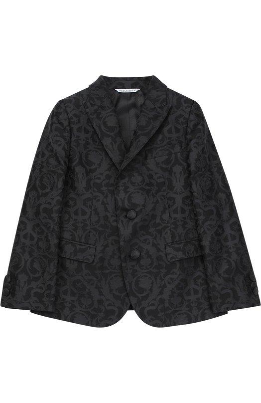 Пиджак из фактурной ткани с узором Dolce & Gabbana 0131/L41J28/FJMZG/2-6