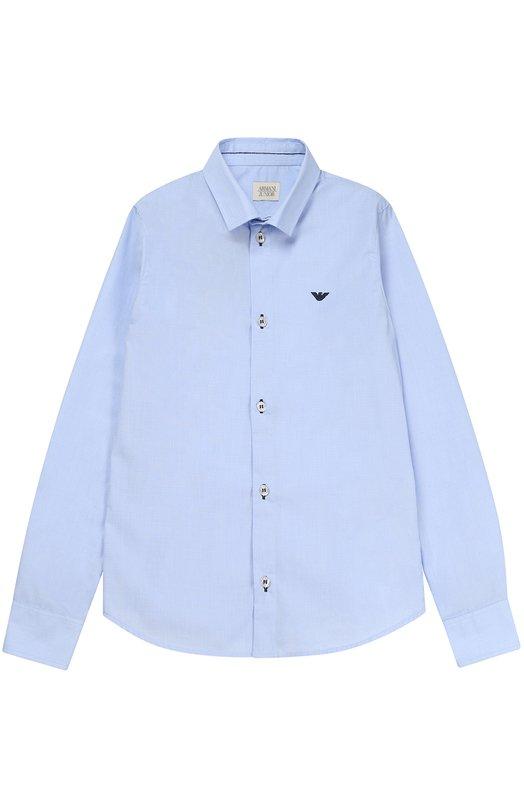 Классическая рубашка из хлопка Giorgio Armani 3Y4C07/4N16Z/4A-10A