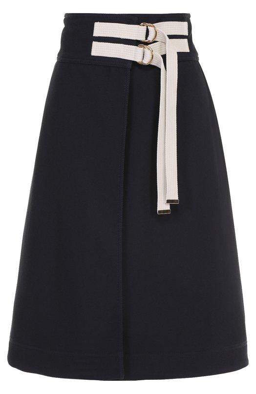 Расклешенная юбка-миди с контрастной отделкой Marni G0MAV07U00TN668