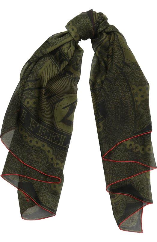 Шелковый платок с принтом Givenchy GW1414/SC788