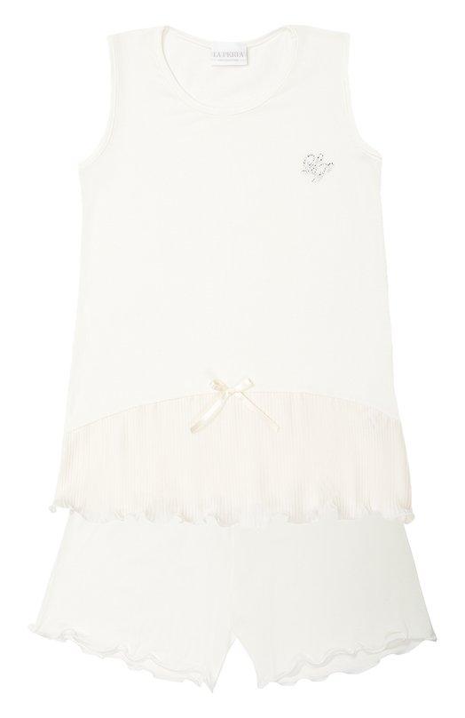 Пижама из модала с бантом La Perla 51671/2-6