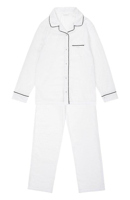 Пижама из хлопка с контрастной отделкой La Perla 51641/8-14