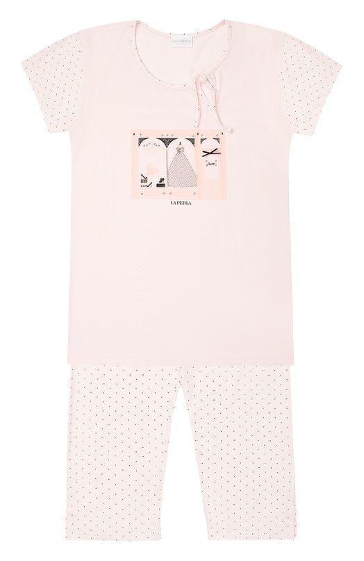 Пижама из модала с принтом La Perla 51651/8-14