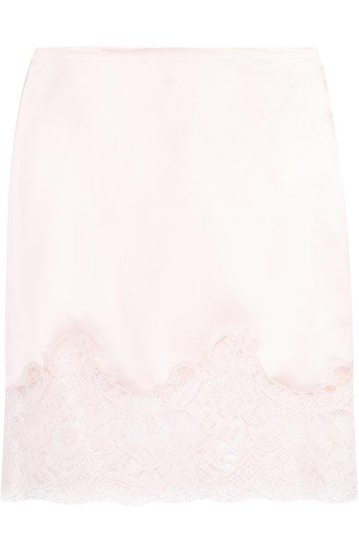 Шелковая облегающая юбка с кружевной отделкой Givenchy 17P/4002/310