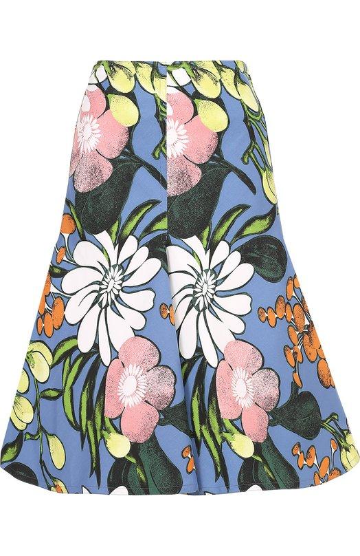 Расклешенная юбка-миди с цветочным принтом Marni G0MAV05U00TCU54