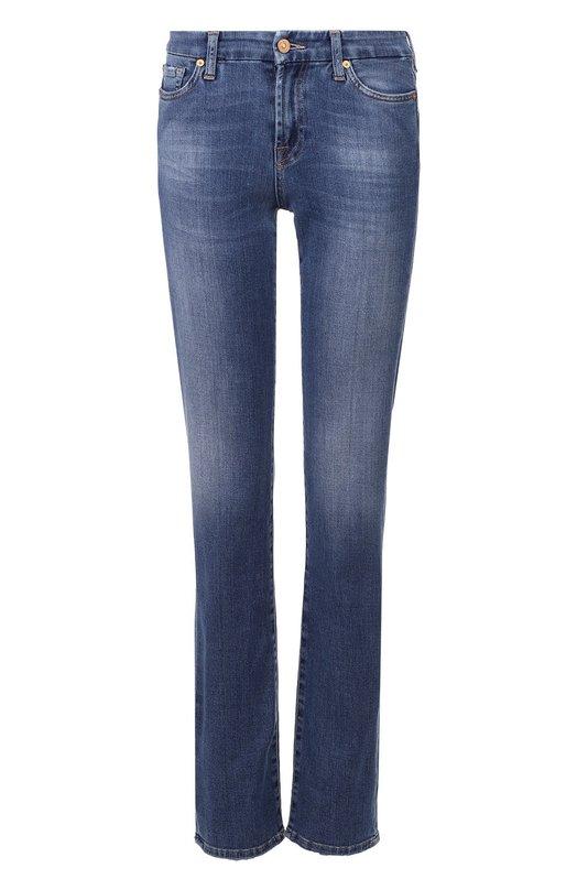 Расклешенные джинсы с потертостями 7 For All Mankind SVMR230YV