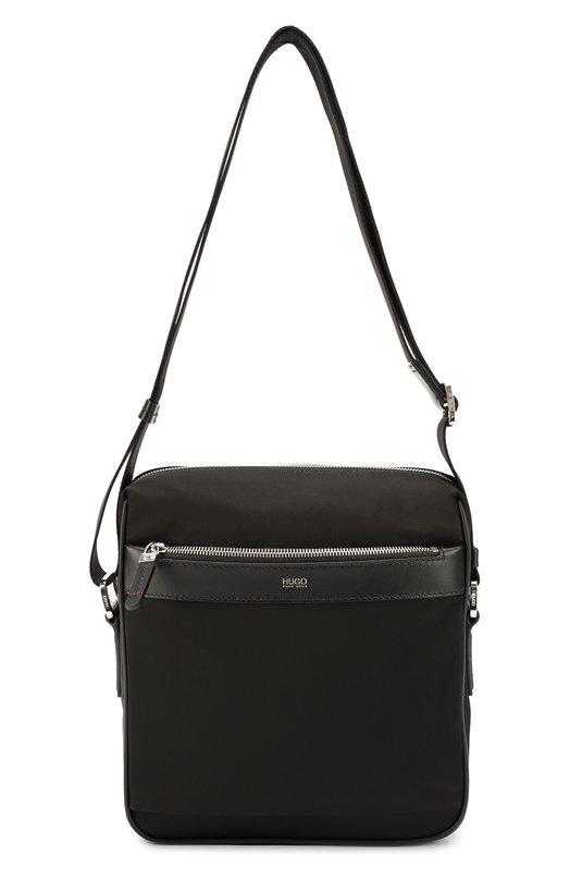 Текстильная сумка-планшет с отделкой из натуральной кожи HUGO 50311994