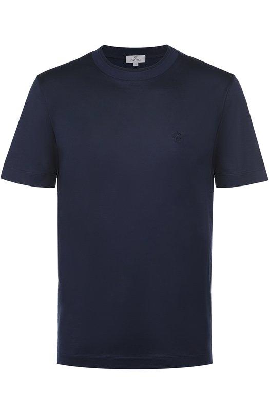 Хлопковая футболка с круглым вырезом Canali MJ00002/T0356