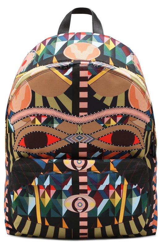Текстильный рюкзак с принтом и внешним карманом на молнии Givenchy