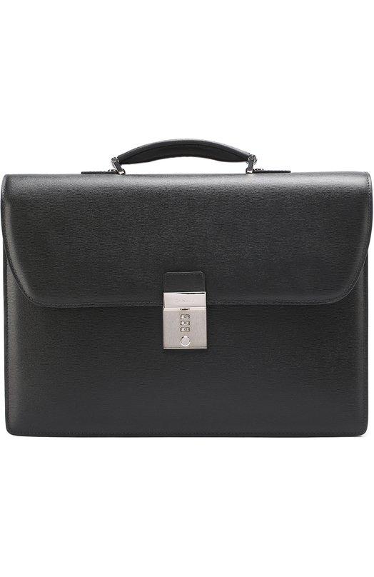 Кожаный портфель с плечевым ремнем Canali NA00038/P325332