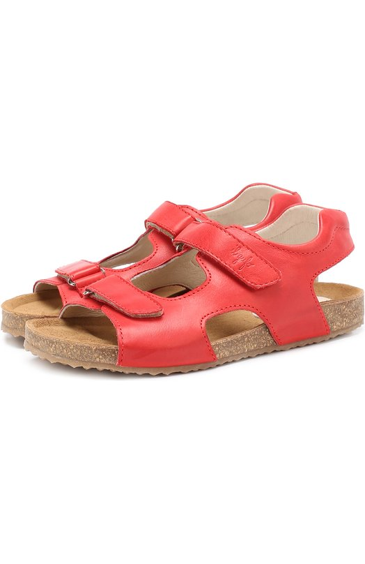 Кожаные сандалии с застежками велькро Il Gufo G550/VITELL0 ICARUS/31-34