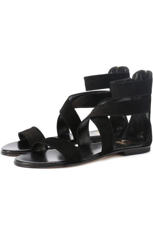 Замшевые сандалии с ремешками Gallucci 933/ANT.CAM0SC.