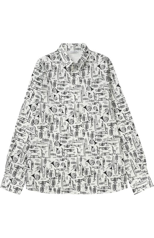 Рубашка из хлопка с принтом Dolce & Gabbana 0131/L41S67/FSEFK/8-12