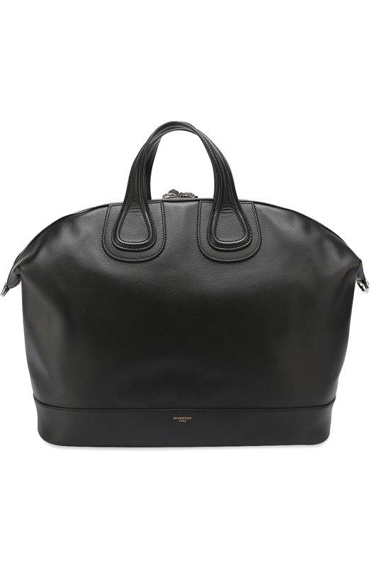 Кожаная дорожная сумка с плечевым ремнем Givenchy