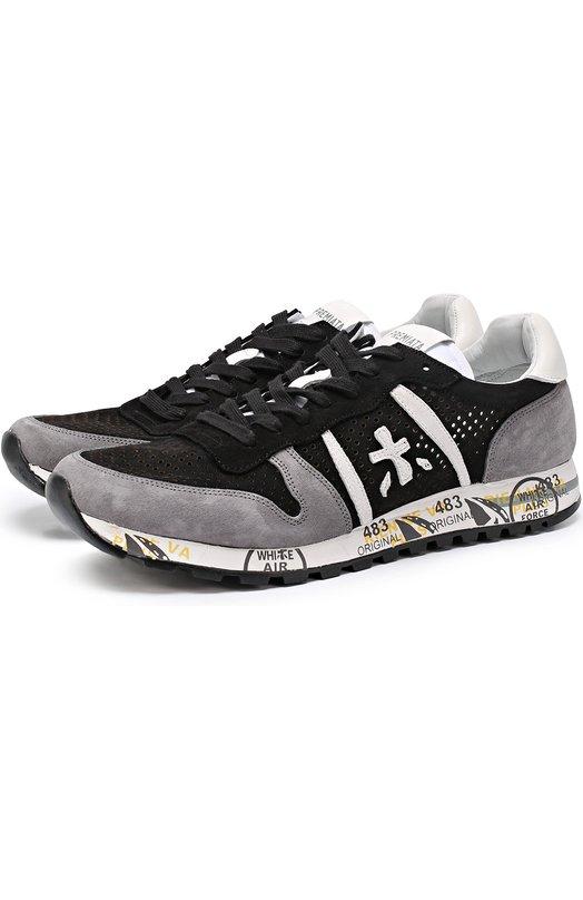 Замшевые кроссовки с перфорацией на подошве с принтом Premiata ERIC/2117
