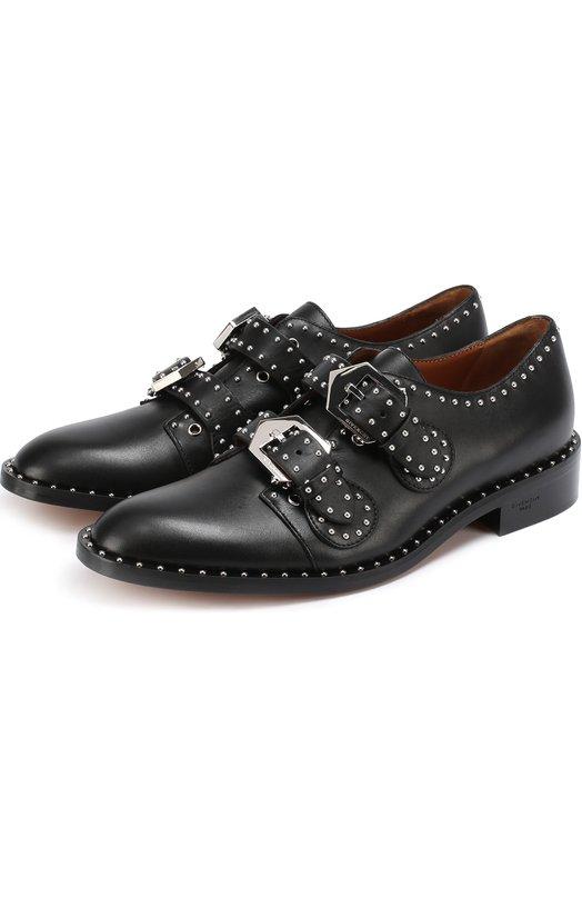 Кожаные ботинки с ремешками и заклепками Givenchy BE0/8825/004