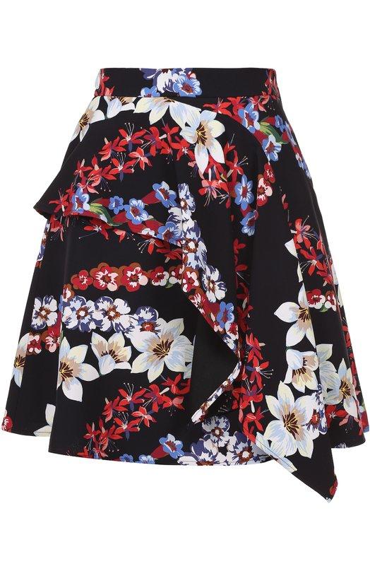 Мини-юбка с цветочным принтом и оборками MSGM 2241MDD35/174165