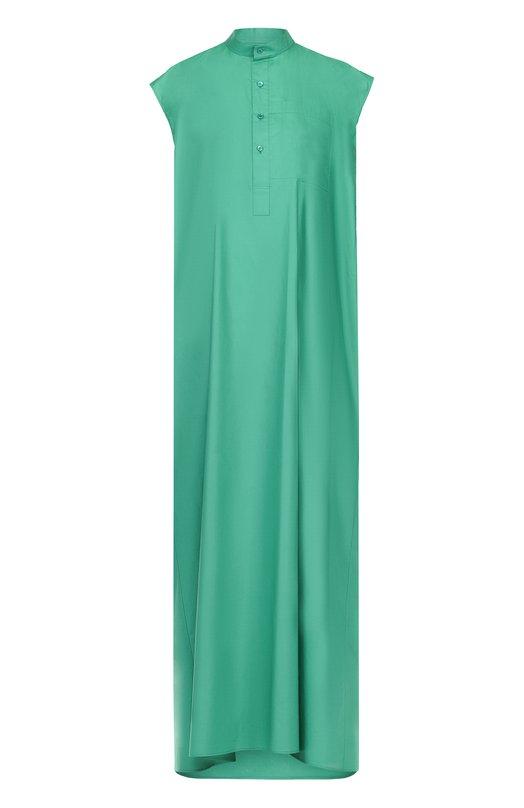 Платье-макси прямого кроя с воротником-стойкой Balenciaga 457251/TUB02
