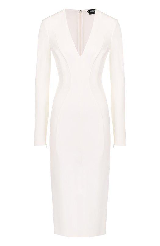 Платье-футляр с V-образным вырезом Tom Ford ABJ044/FAX021