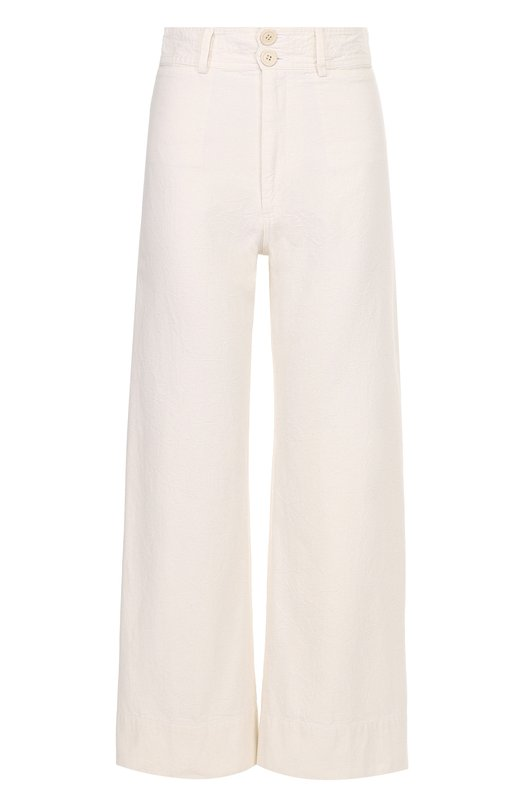 Укороченные широкие брюки с завышенной талией Apiece Apart AA17402/CREAM