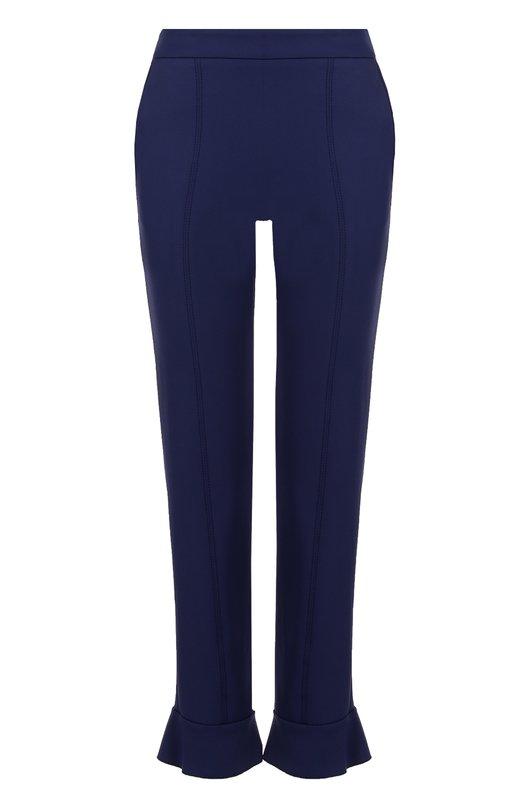 Укороченные брюки-скинни с оборкой MSGM 2241MDP08/174122