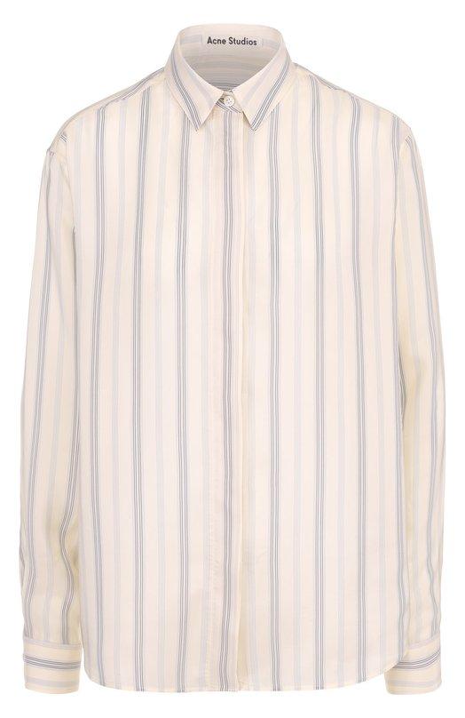 Блуза прямого кроя с полоску Acne Studios 11N166