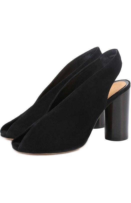 Замшевые босоножки на устойчивом каблуке Isabel Marant SD0163-17P030S/MEIRID