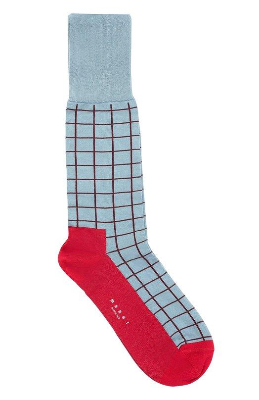 Хлопковые носки с геометрическим принтом Marni SKMCV07Q00FC191