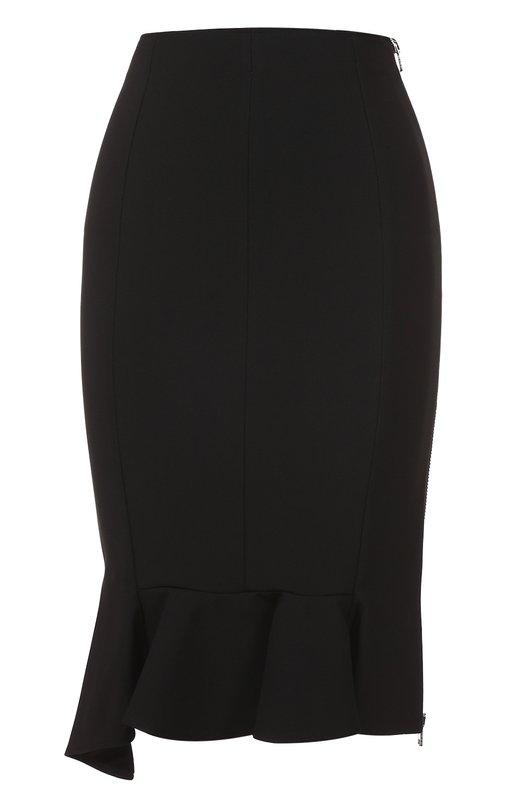 Облегающая юбка асимметричного кроя с оборкой Givenchy 17Y/4722/434