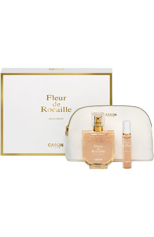 Набор Fleur De Rocaille: Туалетная вода + Туалетная вода спрей + Косметичка Caron Q029925