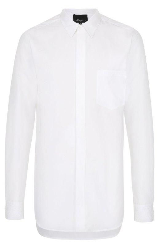 Хлопковая рубашка асимметричного кроя 3.1 Phillip Lim S171-2257C0TM
