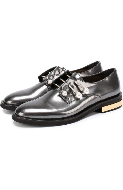 Лаковые ботинки с декорированными булавками Coliac CL210/FERNANDA