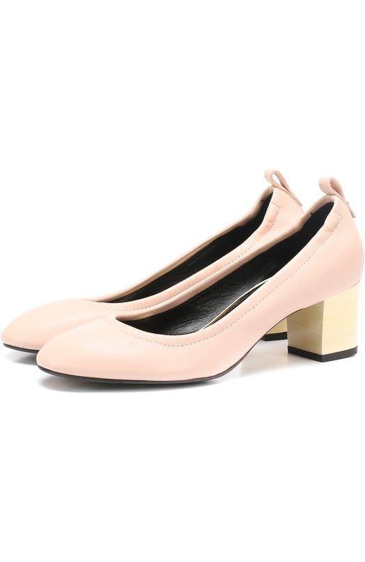 Кожаные туфли на устойчивом каблуке Lanvin FW-PUPP00-EXAA-P17