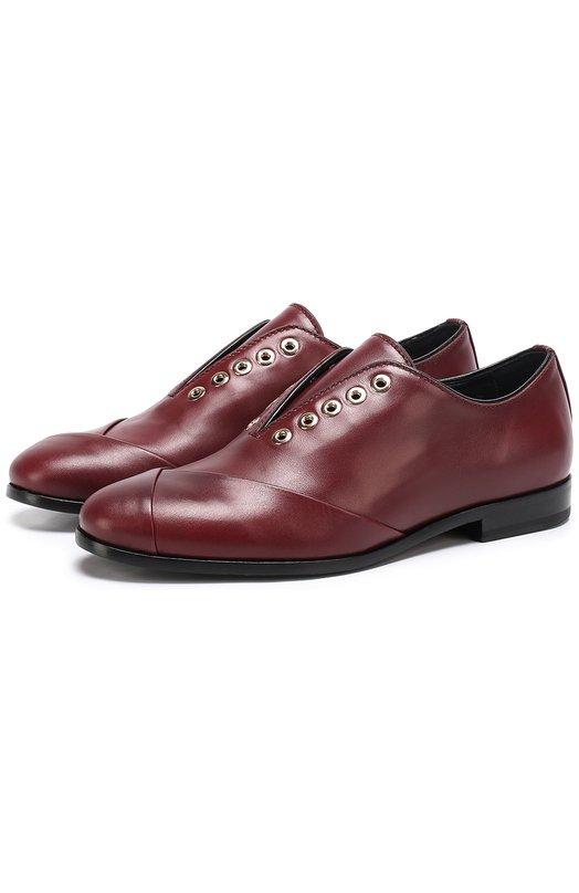 Кожаные ботинки с декором без шнуровки Lanvin FW-FSHY02-VANE-P17