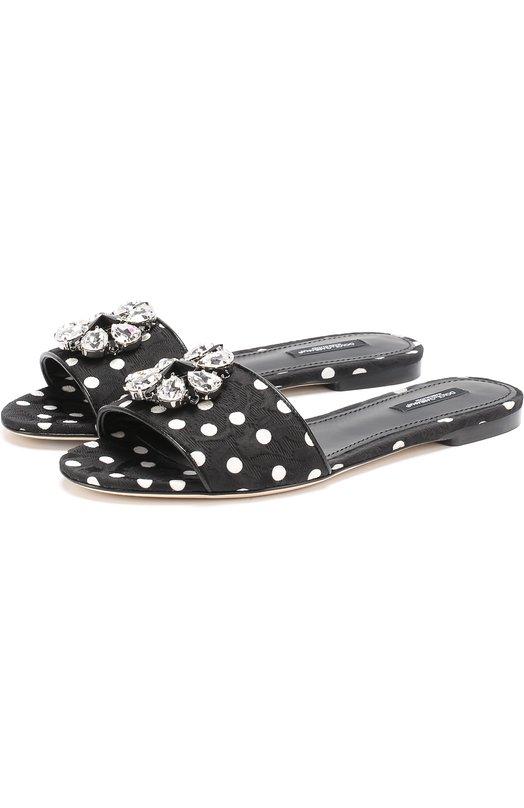 Шлепанцы Bianca из текстиля с кристаллами Dolce & Gabbana 0112/CQ0108/AG119