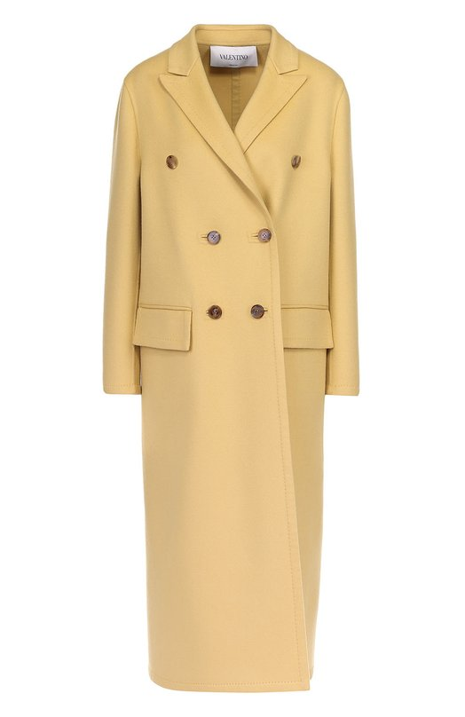 Двубортное пальто с остроконечными лацканами Valentino MB3CA1B0/15E