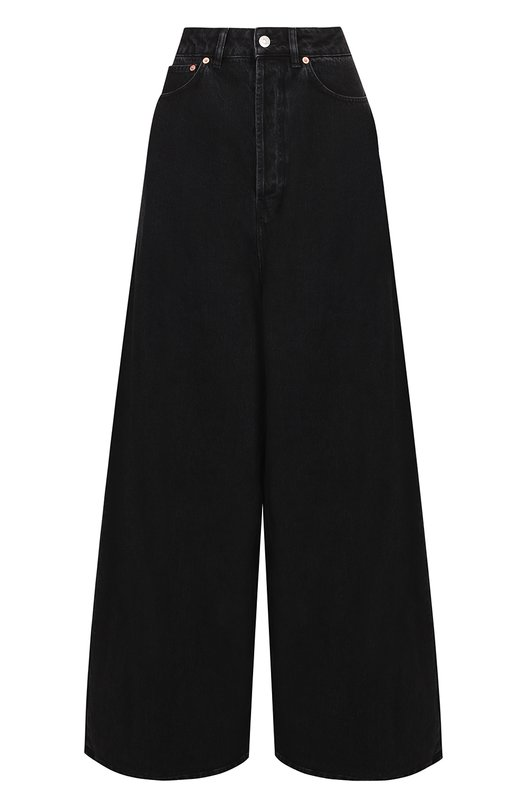 Широкие расклешенные джинсы с завышенной талией Balenciaga 458241/TUE14